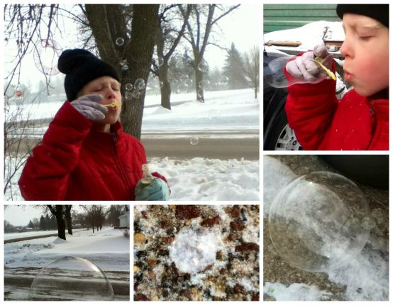 The science of frozen bubbles and how to make them in cold climates or warm