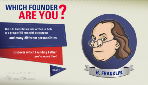 Kids can take a quiz to find out which Founding Father they match