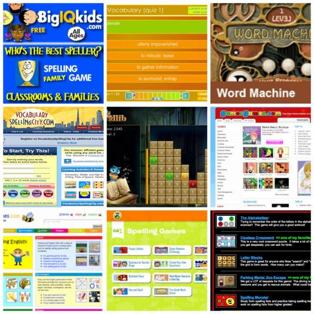 Dozens of free spelling games online!
