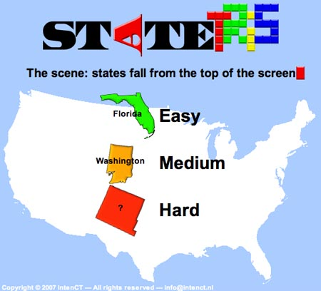 Kids can learn U.S. and world geography playing FREE tetris-like game
