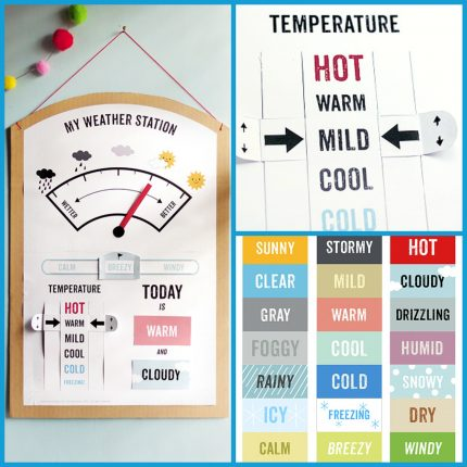 Print out a FREE weather station for the kids!