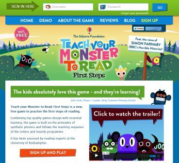 Teach Your Monster to Read teaches kids to read for FREE
