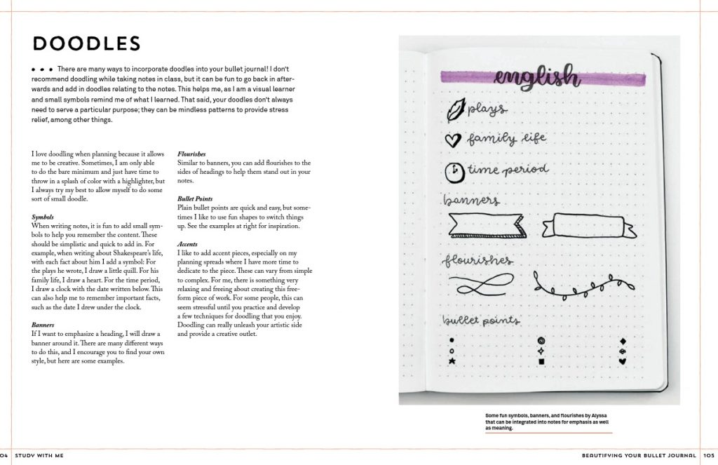 Study with Me excerpt about adding doodles