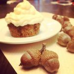 Acorn Spice Cupcakes with Cream Cheese Frosting (gluten free)