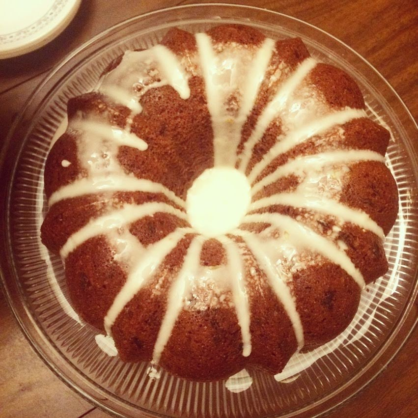 Jack's gluten free spiced prune bundt cake