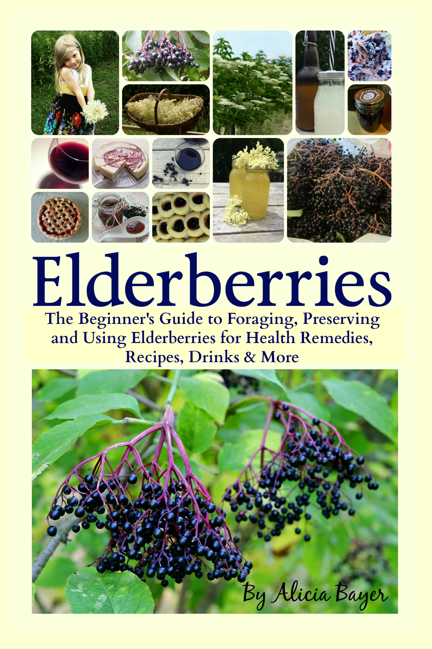 Elderberries grow wild all over the United States, Canada, Europe and beyond, yet most people don't even realize they're there. Now you can learn how to easily find wild elderberries, forage them and grow your own to make medicinal remedies like anti-flu syrup and elderberry oxymel, delicious baked goods like elderberry meringue pie and elderberry thumbprint cookies, elderflower recipes like elderflower fritters and elderflower soda, alcoholic recipes like elderberry wine and elderberry hard lemonade, and lots more. Elderberries and elderflowers are among the most perfect wild foods. They are useful in all sorts of recipes, packed with health benefits that do everything from boost the immune system to cure the flu, and you can even find them for free all over the world -- or grow your own. This comprehensive guide will teach you: The incredible history of elderberries and elder flowers Health studies and traditional medicinal uses The effects of heating and freezing on the medicinal properties of elderberries The most efficient way to get every bit of the anti-flu benefits from elderberries (Hint: it's not elderberry syrup!) How to easily find elderberries, with full-color ID photos and maps of elderberry ranges in the United States and Canada (though you'll also find them elsewhere all throughout the world) How to grow your own elder shrubs from cuttings or wild transplants How to preserve elderberries by freezing, drying, canning and more How to ID elders and how to tell them from so-called poisonous look-alikes Elderflower recipes for teas, pancakes, syrups and more Elderberry recipes for jams, tinctures, oxymels, popsicles, pies, muffins and more Instructions for homemade spirits like elderflower wine, elderberry mead, elderflower-blueberry smashes and elderflower liqueur ice cream floats -- just to name a few! And much more With over 60 recipes for health remedies, baked goods, spirits, jellies and more! The amazing health benefits of elderberries are well know
