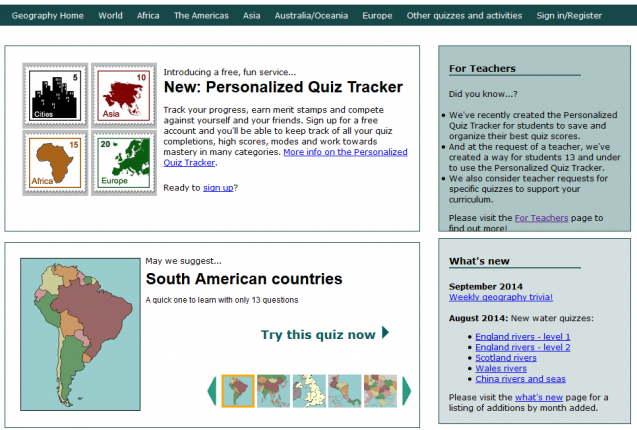 Lizard Point offers fabulous geography tools for teachers (FREE)