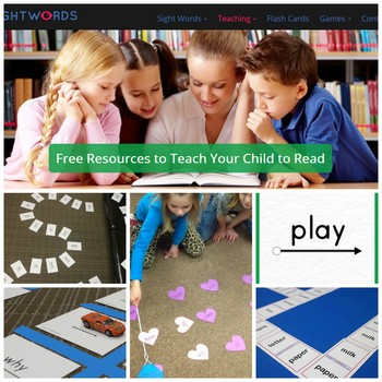 New website offers free sight word printables, games, lessons and more