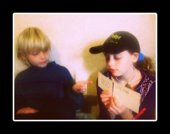 Kids can learn history through DIY timeline game