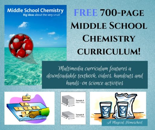 Free 700-page middle school chemistry course available online